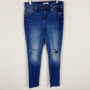 Refuge Ripped Skinny Cropped Jeans